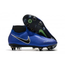 Nike Phantom Vision Elite Dynamic Fit AC SG-Pro Bianco Nero Blu Racer