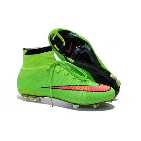 Scarpe da Calcetto Nike Mercurial Superfly FG CR7 Verde Rosso
