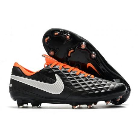 Nike Scarpa Tiempo Legend 8 Elite FG Nero Bianco Arancione