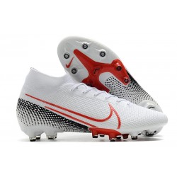 Nike Mercurial Superfly 7 Elite AG-Pro Scarpa Bianco Rosso