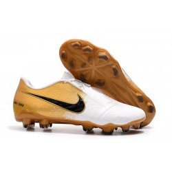 Scarpe Calcio Nike Phantom Vnm Elite FG Oro Bianco Nero
