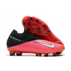 Nike Phantom VSN 2 Elite Dynamic Fit FG Cremisi Laser Argento Nero