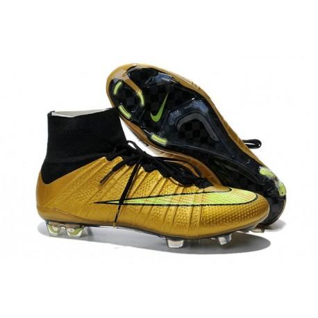 Cristiano Ronaldo Scarpe da Calcio Nike Mercurial Superfly Iv FG Oro Nero