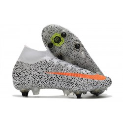 Nike Mercurial Superfly VII Elite SG-Pro CR7 Bianco Arancione Total Nero