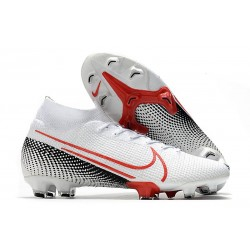Nike Mercurial Superfly VII Elite Dynamic Fit FG Bianco Cremisi Laser Nero