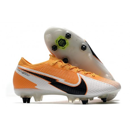 Nike Mercurial Vapor 13 Elite SG Anti Clog Arancione Laser Nero Bianco