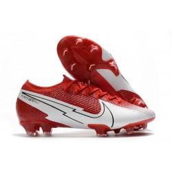 Scarpa Calcio Nike Mercurial Vapor 13 Elite FG Rosso Bianco