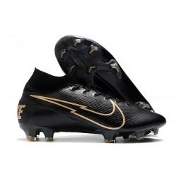 Scarpa Nuovo Nike Mercurial Superfly 7 FG ACC - Nero Oro