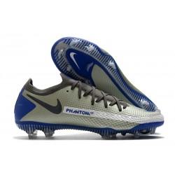 Scarpe da Calcio da Uomo Nike Phantom GT Elite FG Grigio Nero Blu