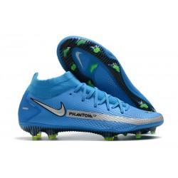 Scarpa Nuovo Nike Phantom GT Elite DF FG - Blu Argento