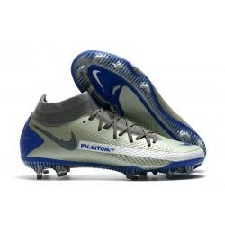 Scarpa Nuovo Nike Phantom GT Elite DF FG - Argento Blu