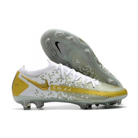 Nike Phantom GT Elite FG ACC Scarpa Calcio Oro Bianco