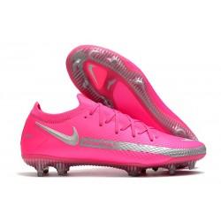 Scarpe da Calcio da Uomo Nike Phantom GT Elite FG Rosa Argento