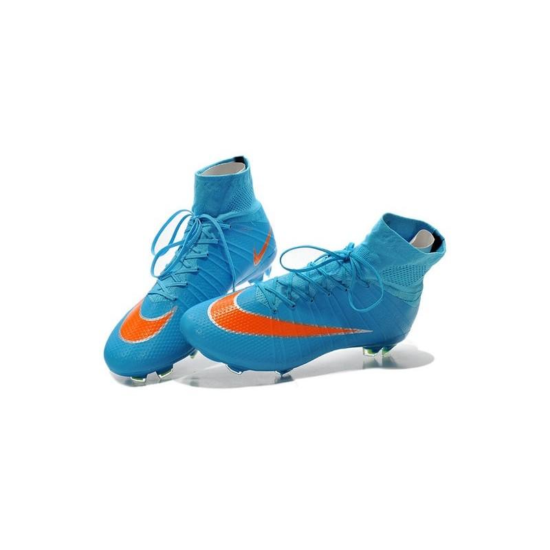 Nike Scarpe da Calcetto Mercurial Superfly 4 Tech Craft FG Blu Arancio 100ad892fdc