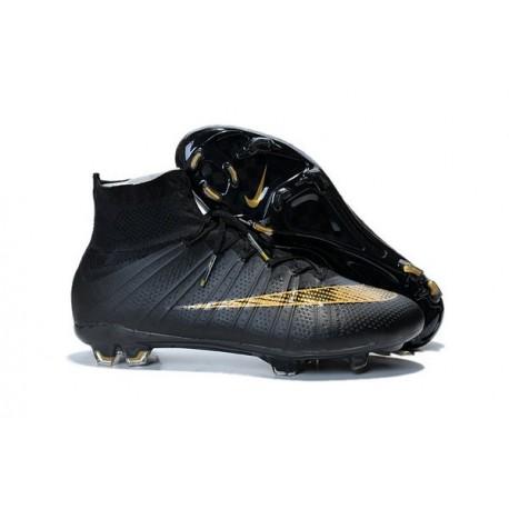 Nike Scarpe da Calcetto Mercurial Superfly 4 Tech Craft FG Nero Oro