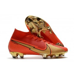 Scarpa Nuovo Nike Mercurial Superfly 7 FG ACC -CR100 Rosso Oro