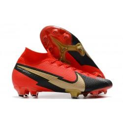 Nike Mercurial Superfly VII DF FG Rosso Nero Oro