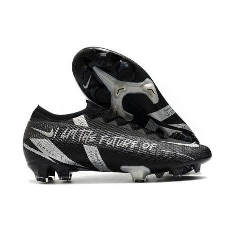 Scarpa Calcio Nike Mercurial Vapor 13 Elite FG Nero Argento