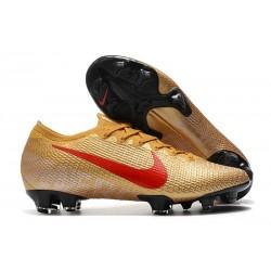 Scarpa Calcio Nike Mercurial Vapor 13 Elite FG Oro Rosso