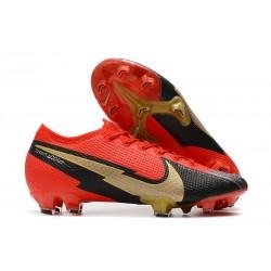 Scarpa Calcio Nike Mercurial Vapor 13 Elite FG Nero Rosso Oro