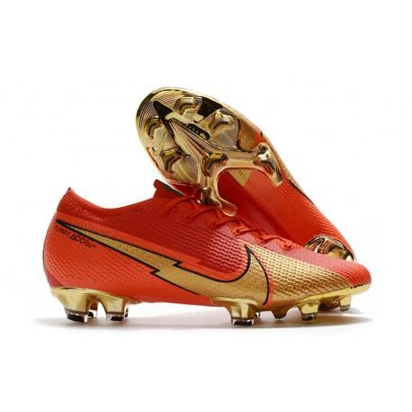 Scarpa Calcio Nike Mercurial Vapor 13 Elite FG Ronaldo CR100 Rosso Oro