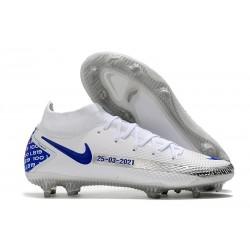 Scarpa Nuovo Nike Phantom GT Elite DF FG - Bianco Blu