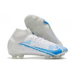 Nike Mercurial Superfly VIII Elite FG Bianco Blu
