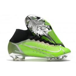 Nike Mercurial Superfly 8 Elite DF FG Verde Argento Nero