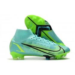 Nike Mercurial Superfly 8 Elite DF FG Turchese Dinamico Lime Glow