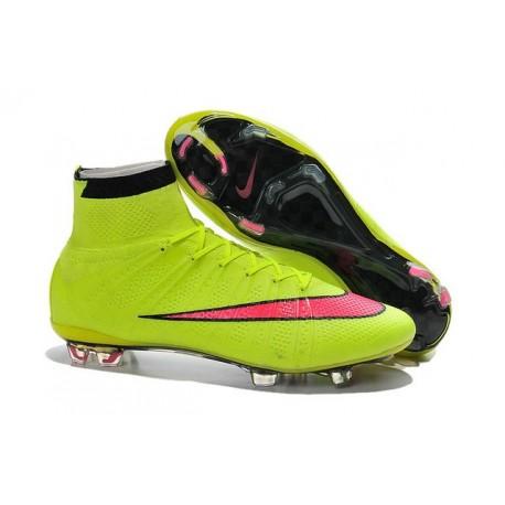 Nike Scarpe da Calcetto Mercurial Superfly 4 Tech Craft FG Giallo Rosso